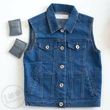 Small Weighted vest, denim